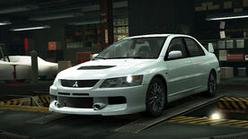 NFSW Mitsubishi Lancer Evolution IX MR-Edition White