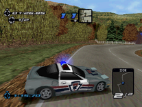 Pursuit Corvette in the PSX version of Need for Speed III Hot Pursuit