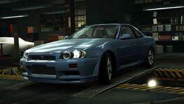 NissanGTRR34BlueWorld