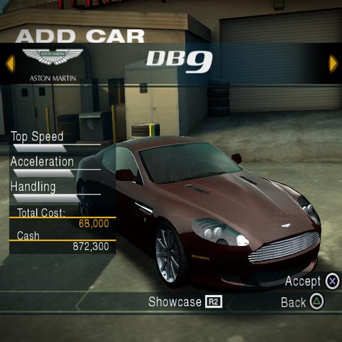 Zwykły Aston Martin DB9<br /><small>(PlayStation 2)</small>