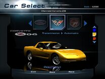 NFSHP2 Car - Chevrolet C5 Corvette Z06 PC