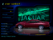 Jaguar XKR in the PSX version of Need for Speed High Stakes