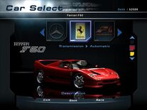 NFSHP2 Car - Ferrari F50 PC