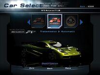 NFSHP2 Car - McLaren F1 LM NFS PC