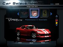 NFSHP2 Car - Dodge Viper GTS PC