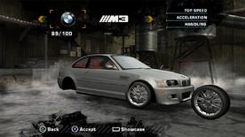 NFSMW BMWM3 PS2
