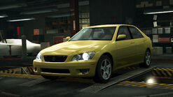 NFSW Lexus IS300 Yellow