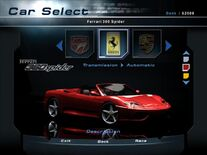 NFSHP2 Car - Ferrari 360 Spider PC