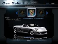 NFSHP2 Car - Porsche Carrera GT PC