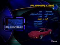 Chevrolet Corvette C5 in the PSX version of Need for Speed III Hot Pursuit