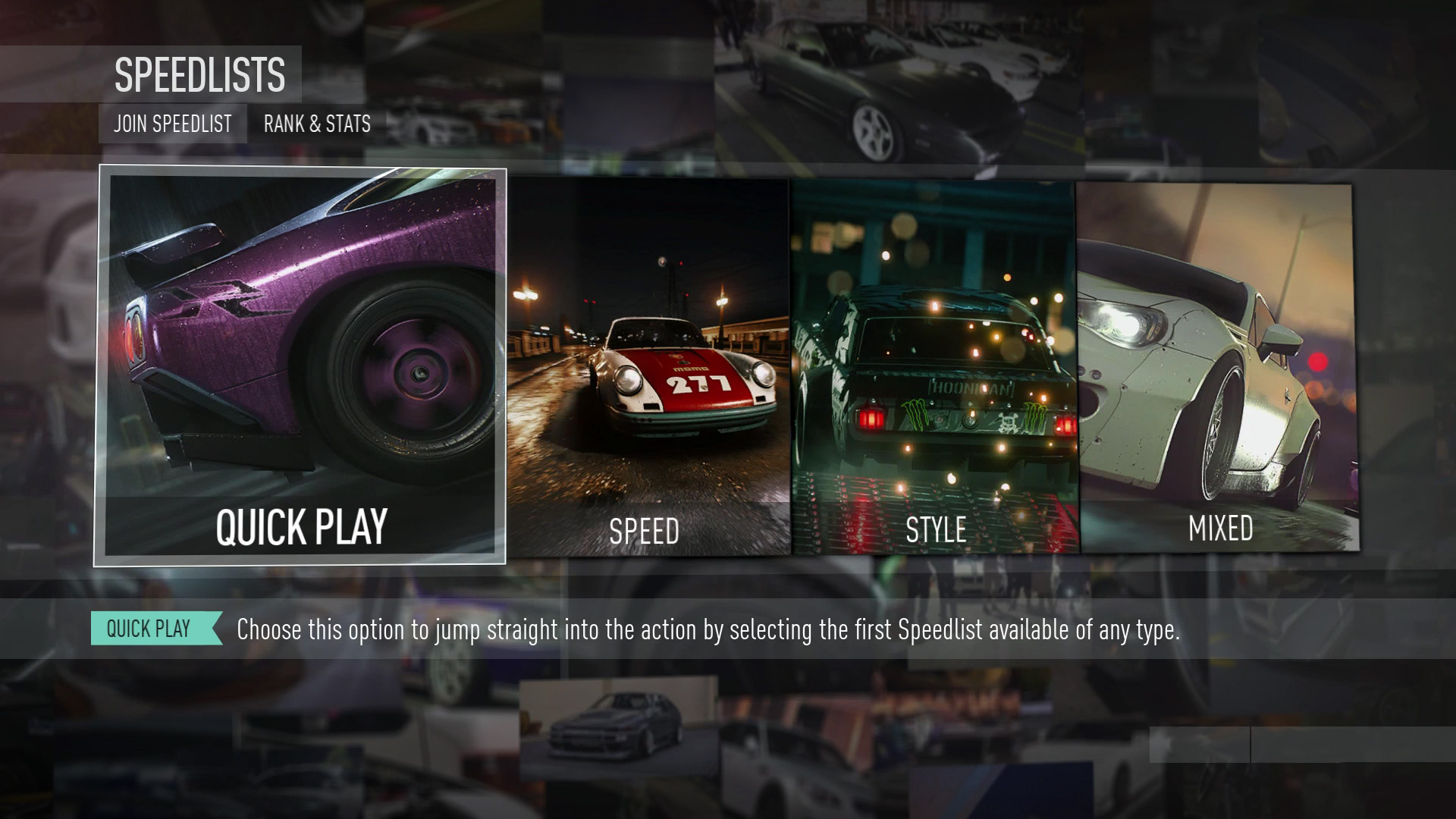 Need For Speed 2015 SpeedLists Update