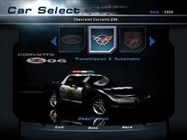 NFSHP2 Car - Pursuit Corvette Z06 PC