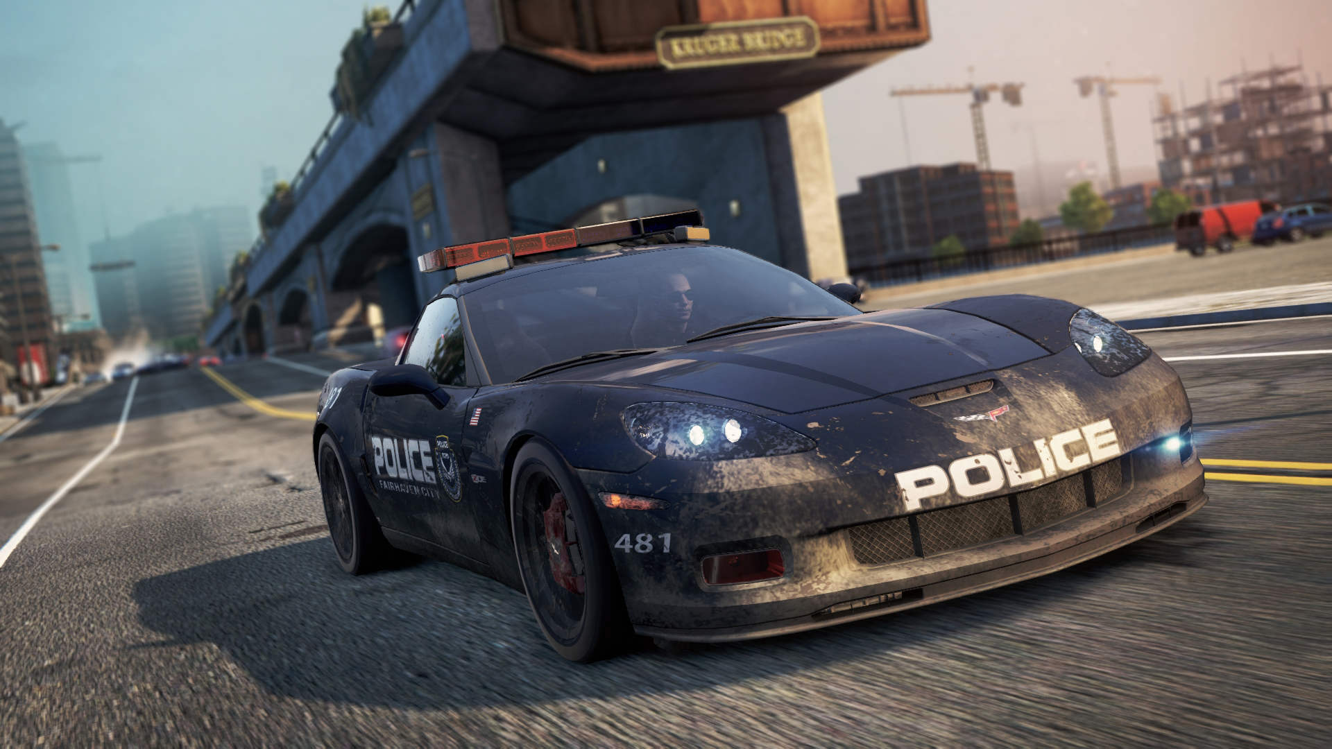 Corvette Police Car: Fairhaven City Police Department
