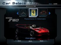 NFSHP2 Car - Ferrari F50 NFS PC