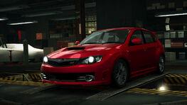 NFSW Subaru Impreza WRX STI Hatchback Red
