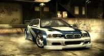 NFS Most Wanted BMW M3 GTR