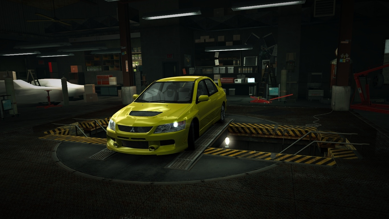 Garage Mitsubishi Lancer Evolution IX MR Edition Yellow