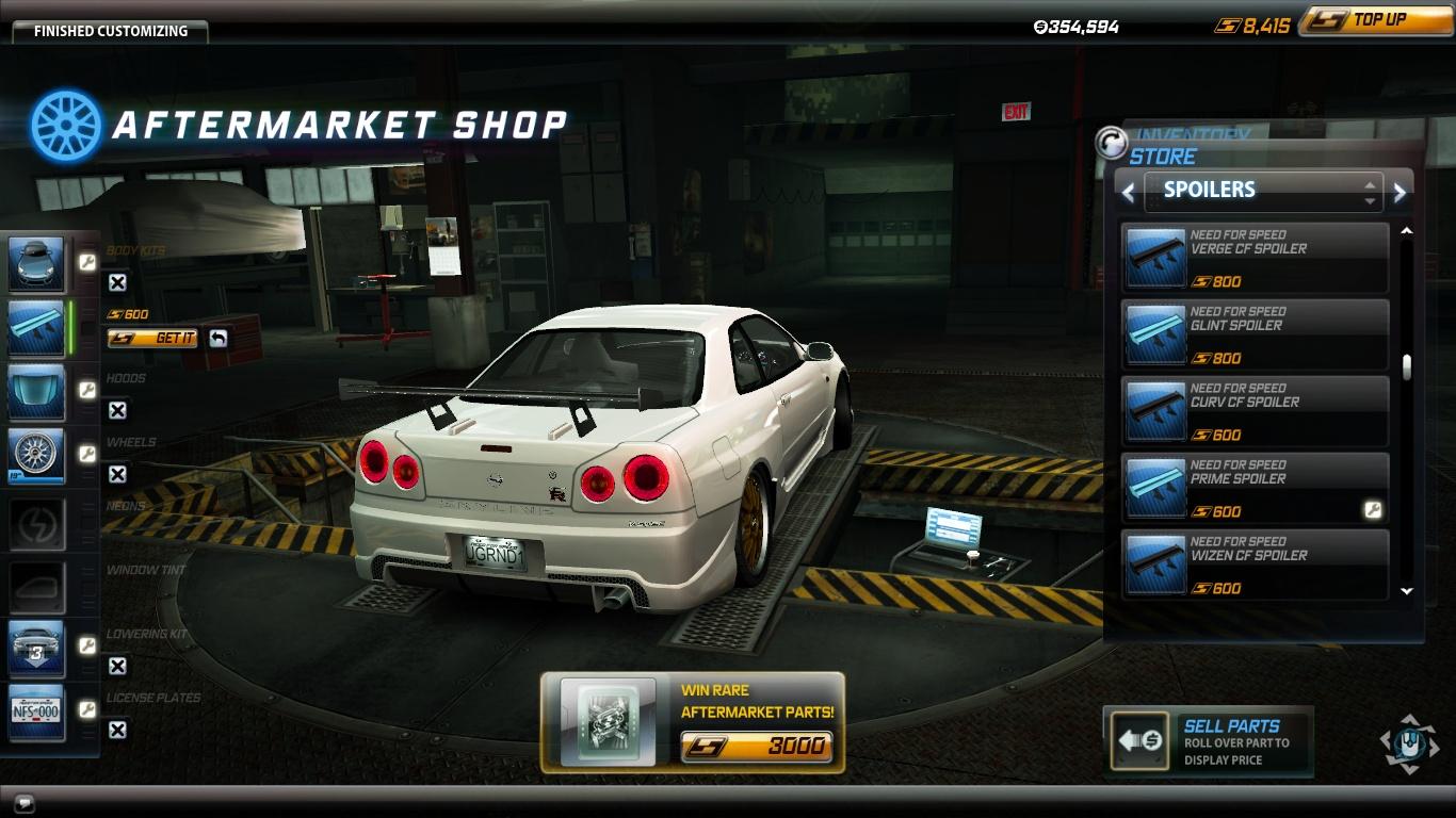 Spoiler Nissan Skyline GT R V Spec R34 Prime R