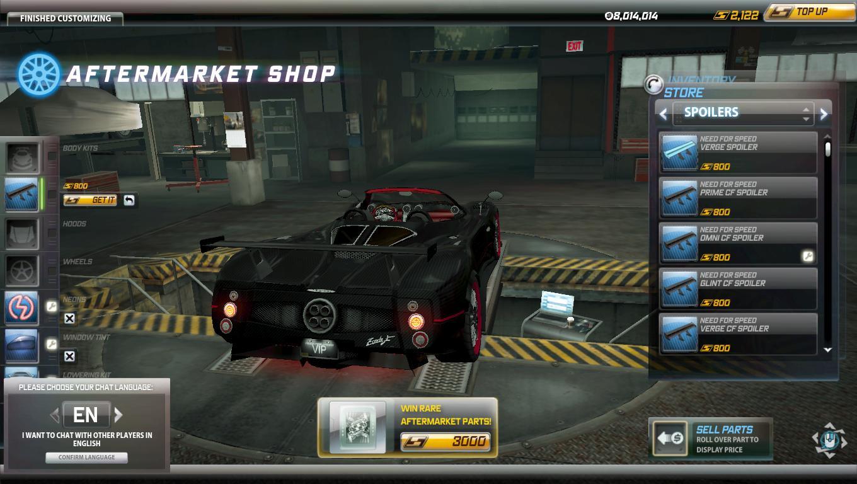 Spoiler Pagani Zonda F Roadster Omni CF R