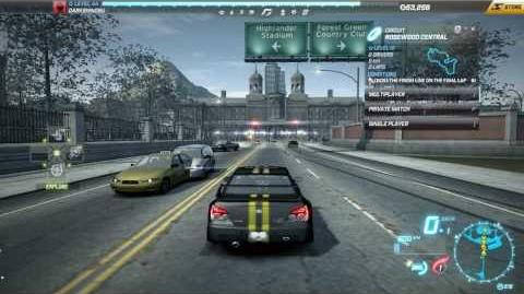 """NFS World - Circuit """"Rosewood Central"""" - Single Player - 24"""