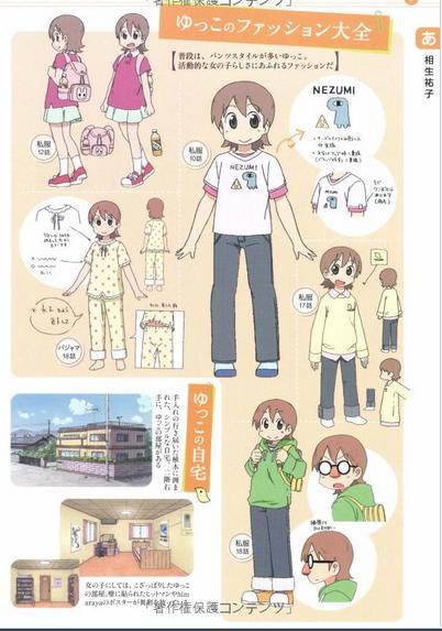 image yuuko s fashion png nichijou wiki fandom powered by wikia