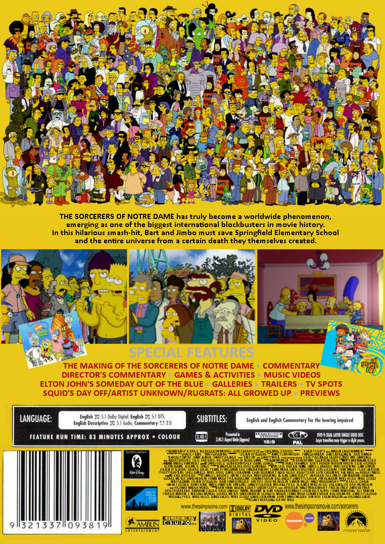 The Simpsons Movie The Sorcerers Of Notre Dame Nickelodeon Movies Wiki Fandom