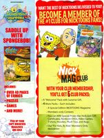 Nick Mag Club Go West Young Sponge print ad Nick Mag April 2008