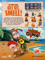 Rugrats Go Wild Burger King Odorama card print ad NickMag June July 2003