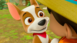 PAW Patrol Tracker the Jungle Pup Happy