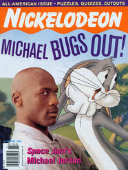 Nickelodeon Magazine cover November 1996 Michael Jordan