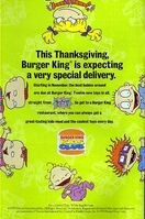 The Rugrats Movie Burger King Thanksgiving Print ad