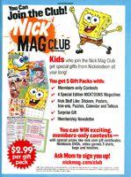 Nick Mag Club print ad Nick Mag Aug 2007