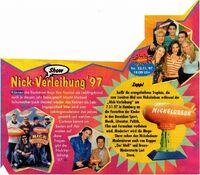 Nick Verleihung 97 Werbeanzeige