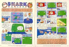 Grampa Julie Shark Hunters NickMag comic Feb 2003