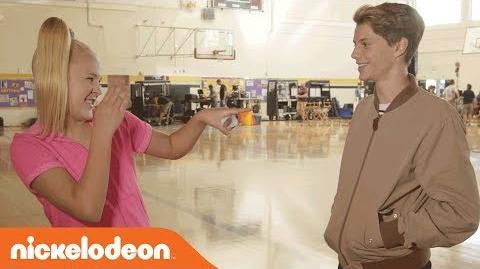 BTS w Jace Norman & JoJo for Fun & Games on Set of 'BLURT!' Nick