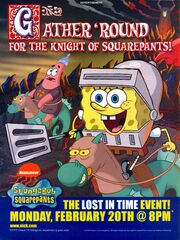 SpongeBob Lost in Time event print ad Nick Mag March 2006