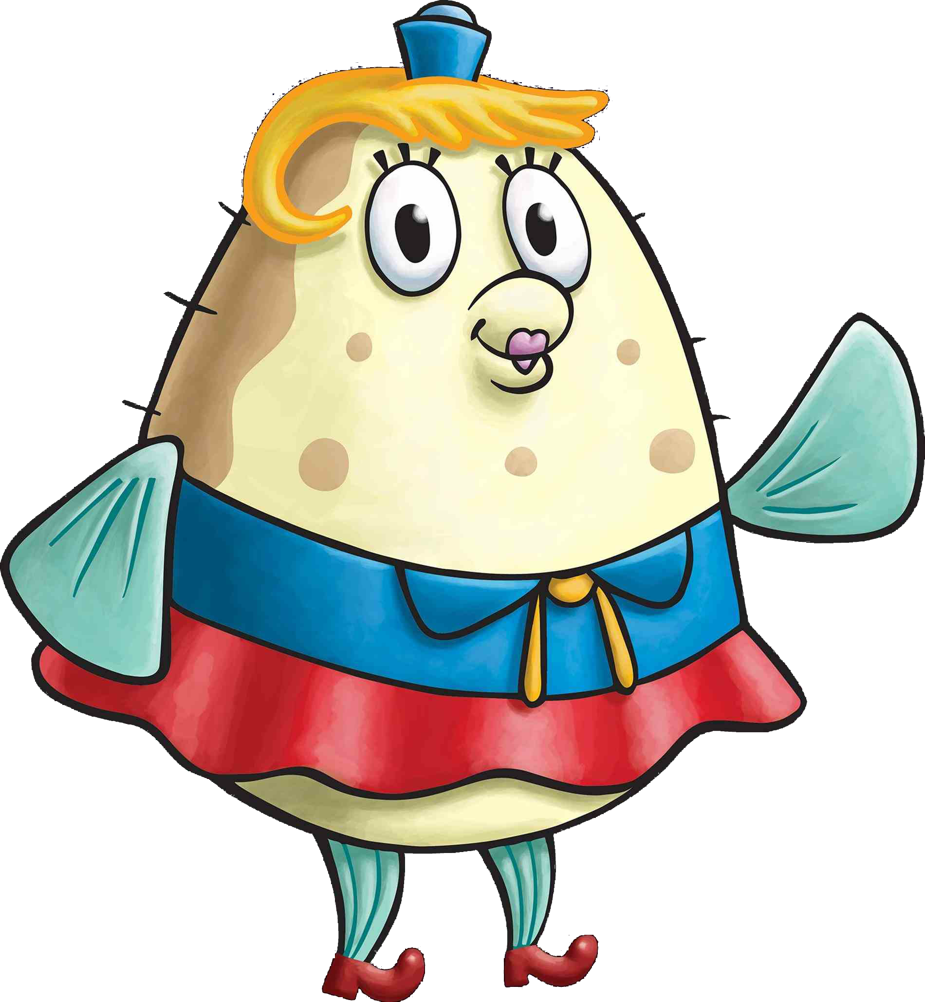 File:SpongeBob SquarePants Mrs. Puff Character Image Nickelodeon Painted Version.png