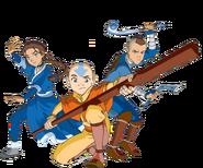 Aang, Katara, and Sokka