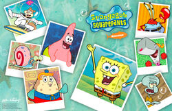 SpongeBob characters wallpaper