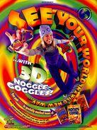 Alex Mack 3D Noggle Goggles print ad NickMag Sept 1997