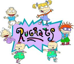 Rugrats logo with characters
