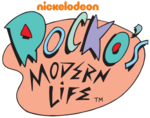 Rocko's Modern Life logo (with 2009 Nickelodeon wordmark)