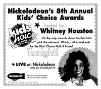 1995 8th Annual Kid's Choice Awards Print Ad