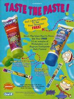 Oral-B Nickelodeon and Rugrats toothpaste Print ad Nick Mag June-July 1998