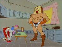 Ren and Stimpy meet Powdered Toast Man