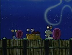 SpongeBob and Squidward are now snails