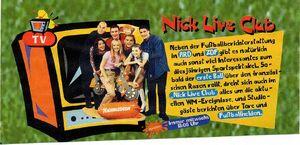 Nick Live Club Werbeanzeige