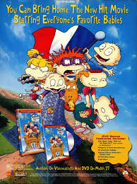 Rugrats in Paris movie dvd vhs advertisement from nickelodeon Magazine april 2001