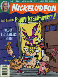 Nickelodeon Magazine cover October 1996 Aaah Real Monsters