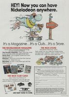 First Nickelodeon Magazine Print Advertisement